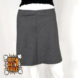 Gray Pinstripe A-Line Mini Skirt